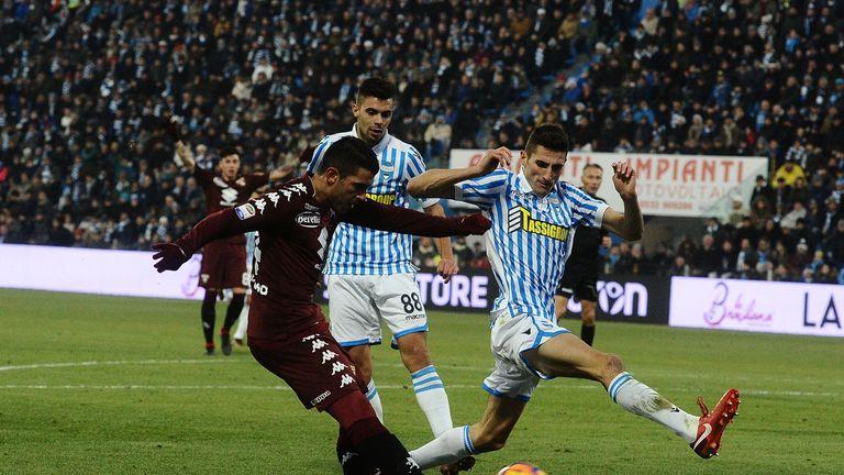 Iago Falque scored twice for Torino