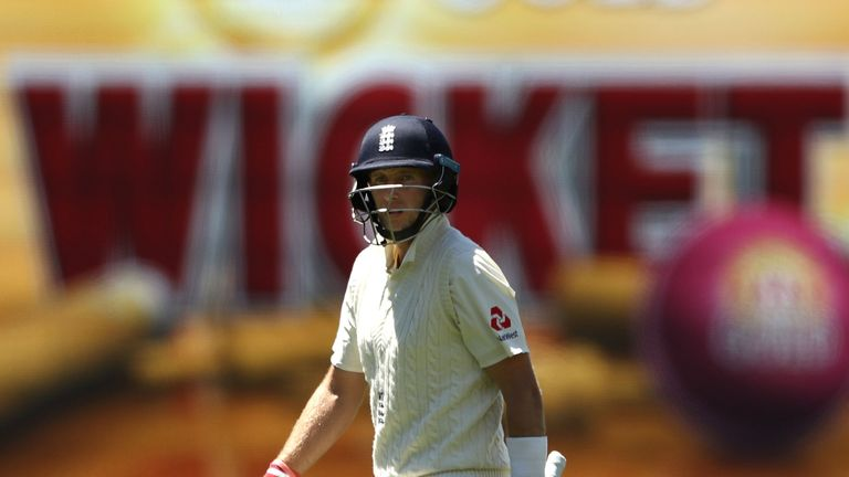 Root looks dejected after being dismissed by Josh Hazlewood