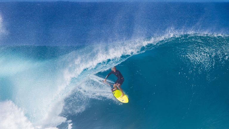 John John Florence from Hawaii goes 'into the tube' on the North Shore of Oahu