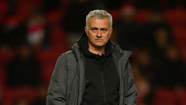 BRISTOL, ENGLAND - DECEMBER 20:  Jose Mourinho, Manager of Manchester United looks on during the Carabao Cup Quarter-Final match between Bristol City and M