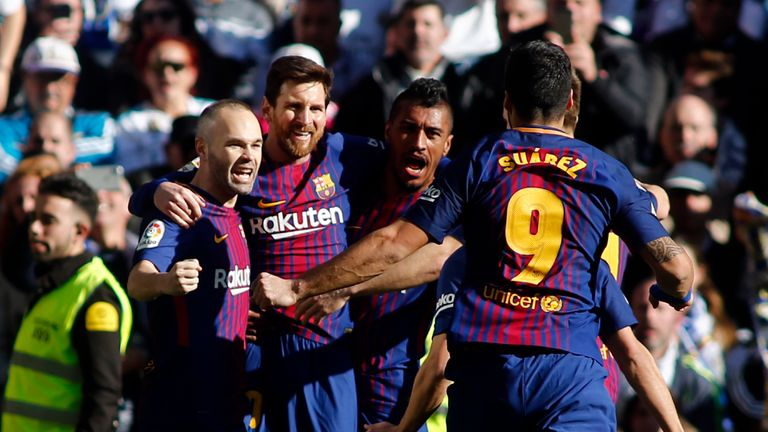 Barcelona face Real Sociedad at the Anoeta stadium on Sunday.