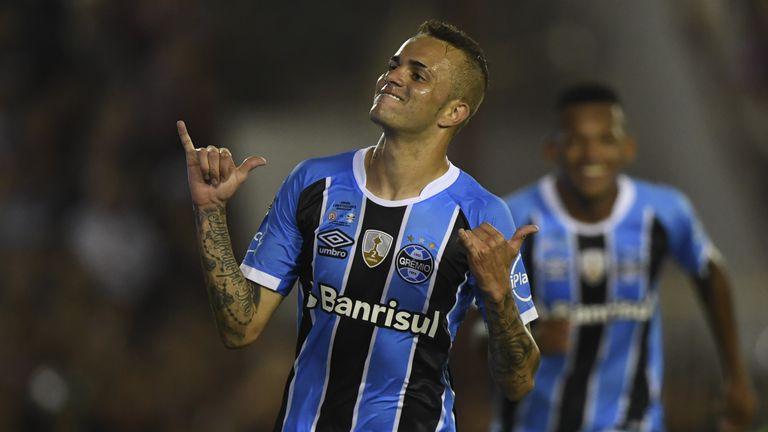 Gremio forward Luan scored in the Copa Libertadores final against Lanus
