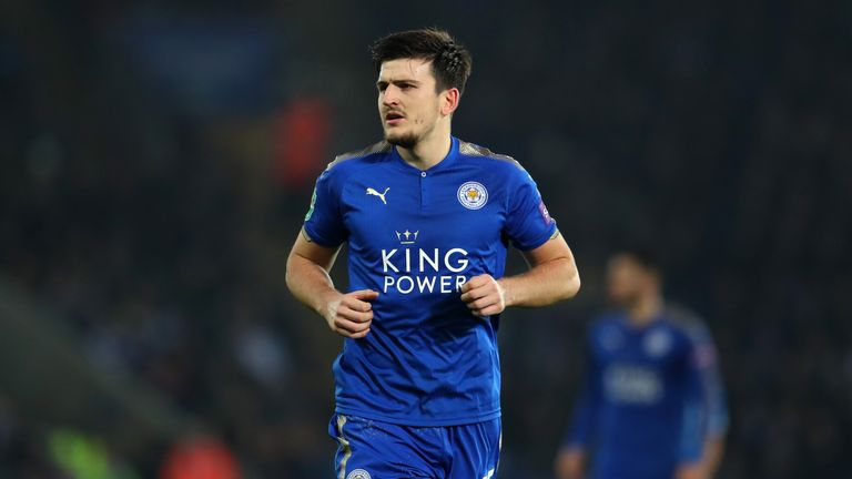LEICESTER, ENGLAND - DECEMBER 19: Harry Maguire of Leicester City during the Carabao Cup Quarter-Final match between Leicester City and Manchester City at