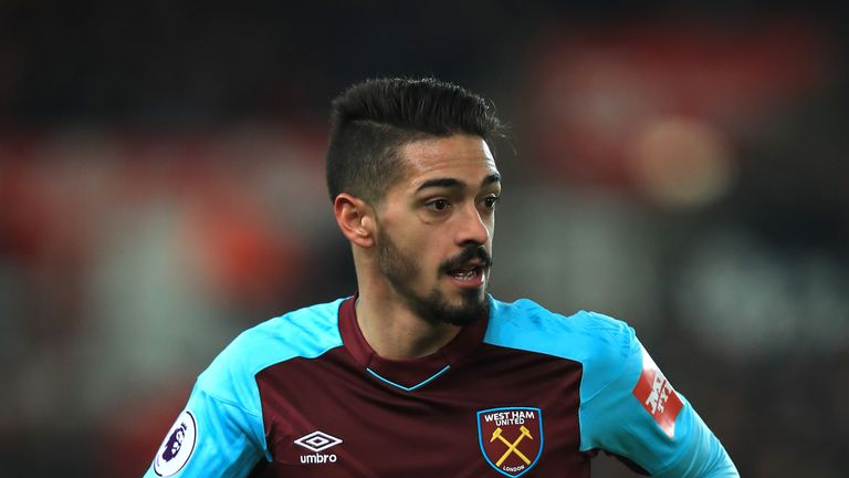 Manuel Lanzini is set for a return to the West Ham squad