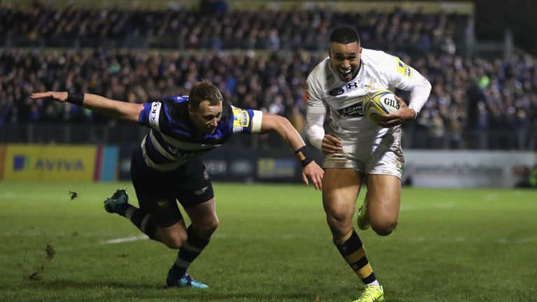 Marcus Watson scored two tries as Wasps won at Bath