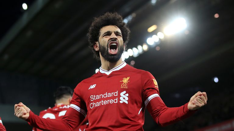 Salah has scored 30 goals in all competitions since joining Liverpool