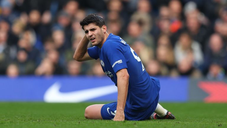Alvaro Morata has not scored for Chelsea in nearly three months