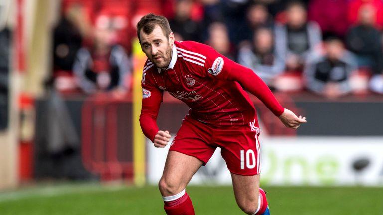 05/03/17 WILLIAM HILL SCOTTISH CUP . ABERDEEN V PARTICK THISTLE (1-0) . PITTODRIE - ABERDEEN . Niall McGinn in action for Aberdeen
