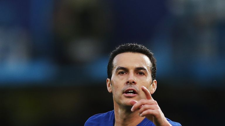 Pedro doubled Chelsea's lead just nine minutes in