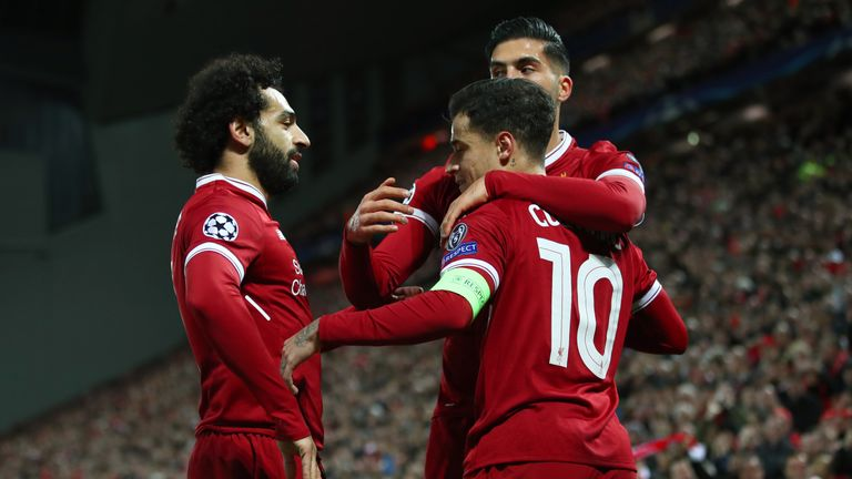 Philippe Coutinho netted a hat-trick for Liverpool