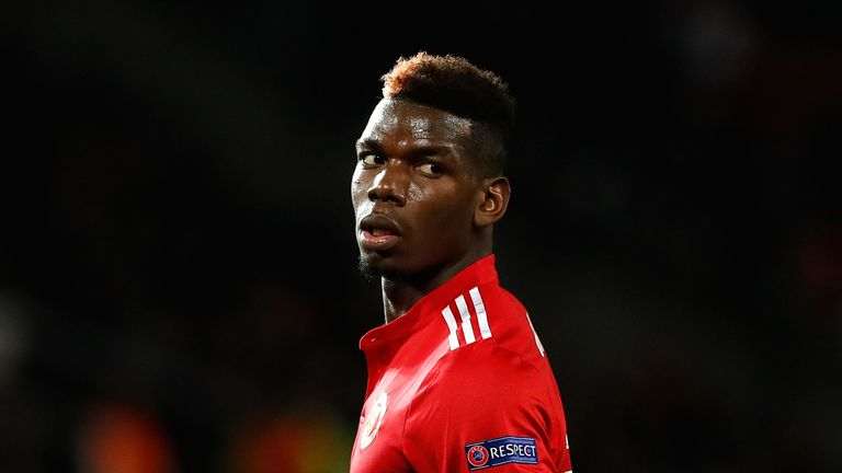 Paul Pogba's top partners for passes and creating chances have fallen out of favour or left the club