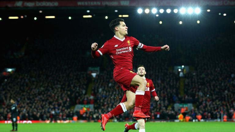 Philippe Coutinho missed Liverpool's trip to Burnley on Monday