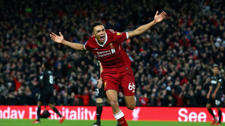 Trent Alexander-Arnold puts Liverpool 3-0 up