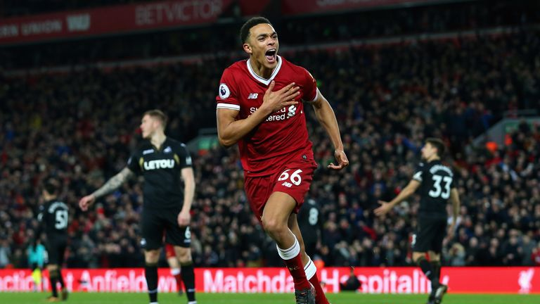Alexander-Arnold has made 18 league appearances for Liverpool and scored one goal this season