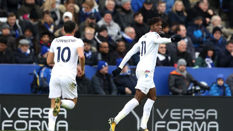 Frank de Boer believes Liverpool would be a 'great club' for Wilfried Zaha