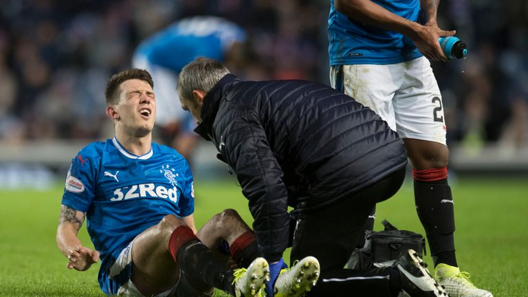 Ryan Jack suffered a knee injury against Motherwell in midweek