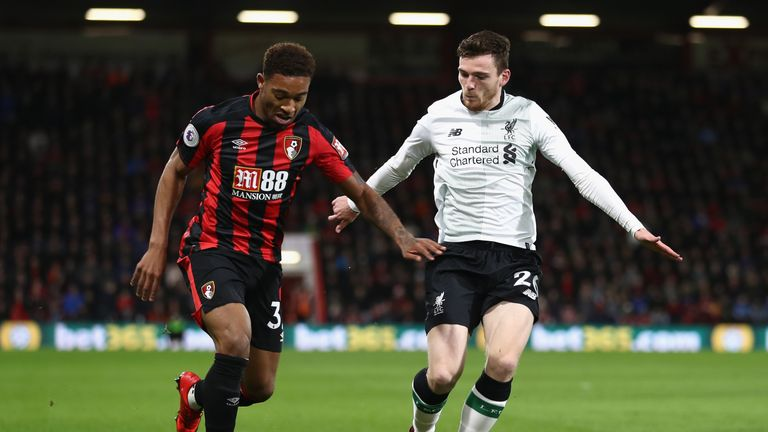 Andrew Robertson helped Liverpool to a clean sheet in a 4-0 victory over Bournemouth last Sunday