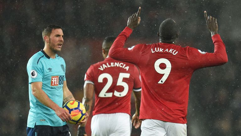 Romelu Lukaku scored the only goal when United beat Bournemouth at Old Trafford on December 13