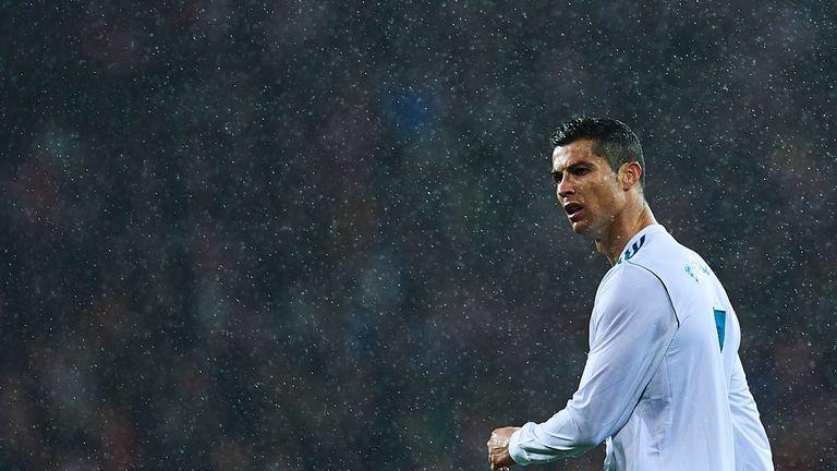 BILBAO, SPAIN - DECEMBER 02:  Cristiano Ronaldo of Real Madrid CF reacts during the La Liga match between Athletic Club and Real Madrid at Estadio de San M