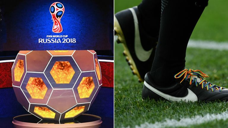 The Rainbow Laces campaign was given a big push by the FA in Moscow