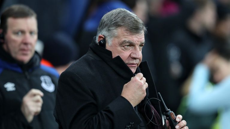 Sam Allardyce, Manager of Everton looks on prior to the Premier League match between Newcastle United and Everton