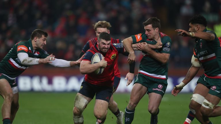 Munster centre Sam Arnold was named man of the match on his Champions Cup debut for the province