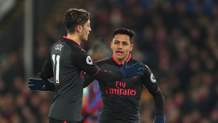 Mesut Ozil, like Alexis Sanchez, is out of contract at the end of the season