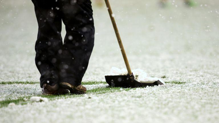 Storm Caroline has put the weekend fixtures in doubt