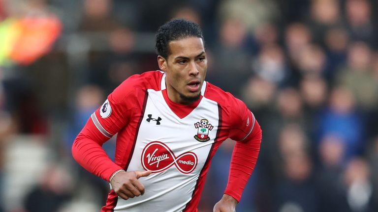 Van Dijk will join Liverpool on January 1 and will wear the No 4 shirt