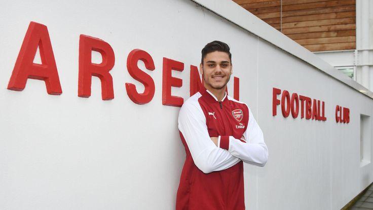 New Arsenal signing Konstantinos Mavropanos at London Colney