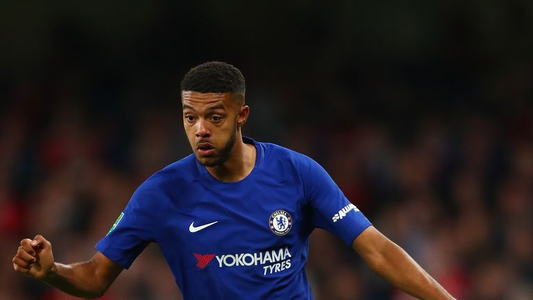 Jake Clarke-Salter playing for Chelsea in the Carabao Cup this season