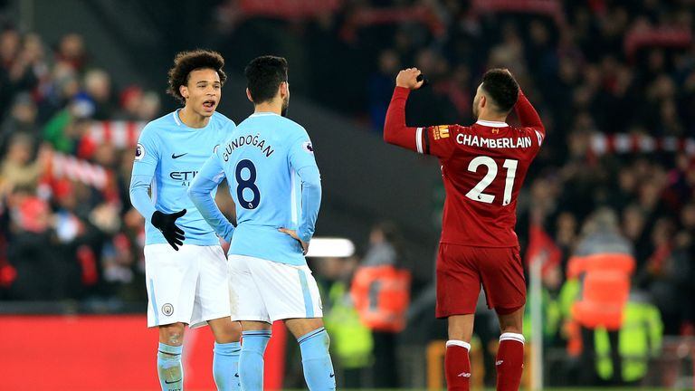 Manchester City lost 4-3 at Anfield in January