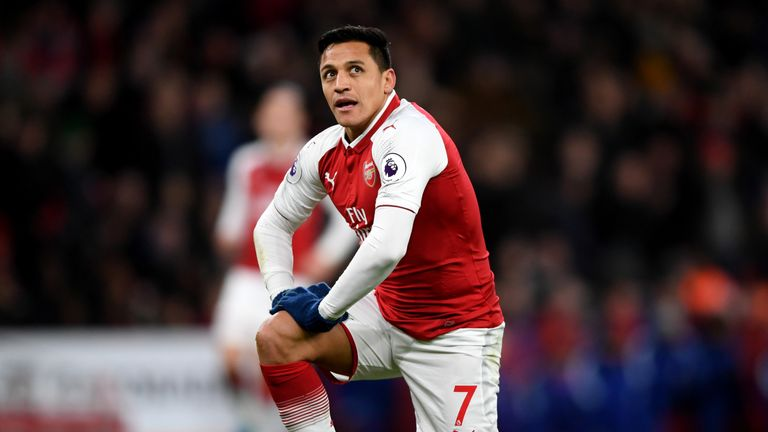 Alexis Sanchez during the Premier League match between Arsenal and Chelsea at Emirates Stadium