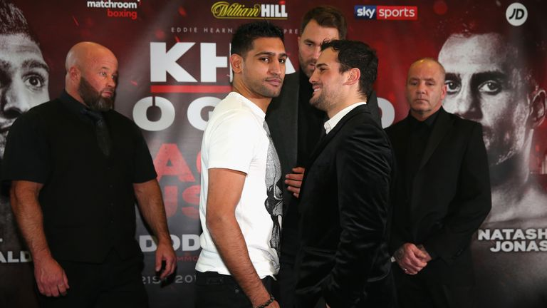 Amir Khan faces Phil Lo Greco in the main event at The Echo Arena