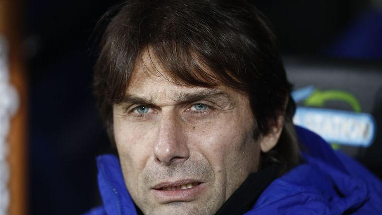 Chelsea's Italian head coach Antonio Conte waits for kick off of the English FA Cup third round football match between Norwich City and Chelsea at Carrow R