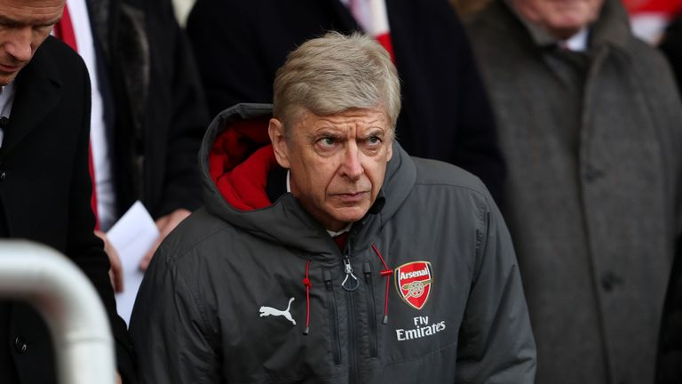 Arsenal manager Arsene Wenger takes his seat in the stands during the Premier League match at the Vitality Stadium, Bournemouth.