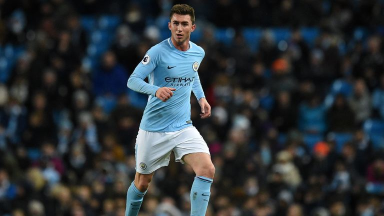 Manchester City's French defender Aymeric Laporte in action during the Premier League match against West Bromwich Albion