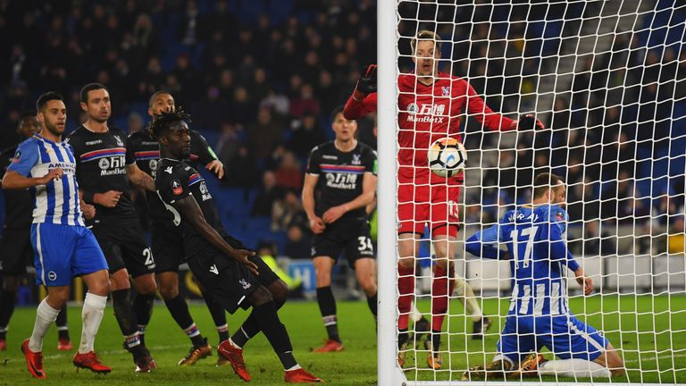 The VAR determined Murray had not handled the ball for Brighton's winner