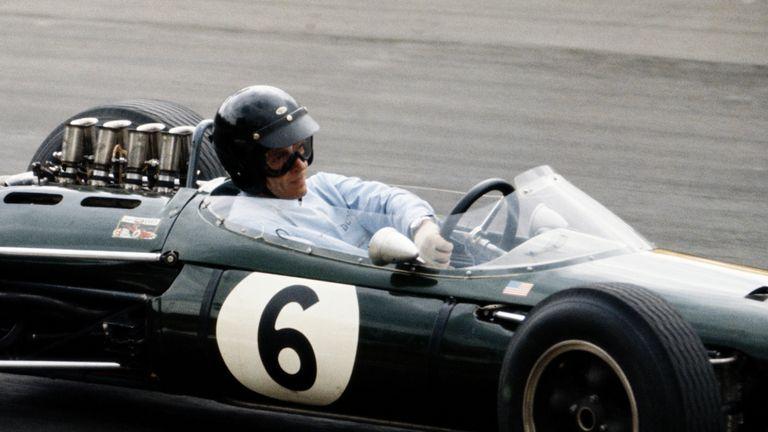 Dan Gurney driving the Brabham BT7 Climax during the 1964 British Grand Prix