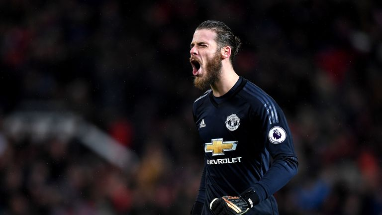 David de Gea has made 97 saves this season - more than any other top-six 'keeper