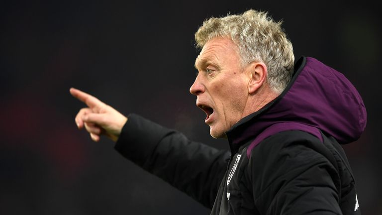 David Moyes wants West Ham to start moving up the Premier League table