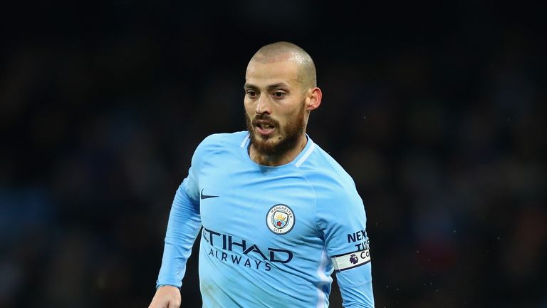 David Silva is back in training for City