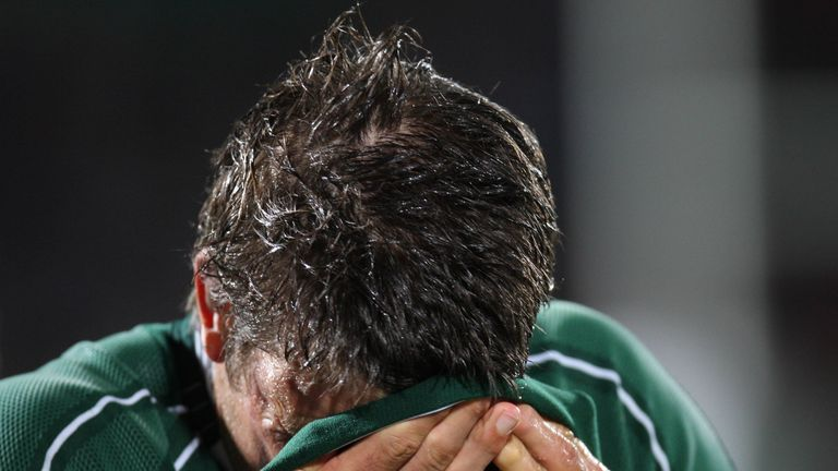 O'Callaghan reacts to Ireland's exit from the 2007 World Cup at the pool stage