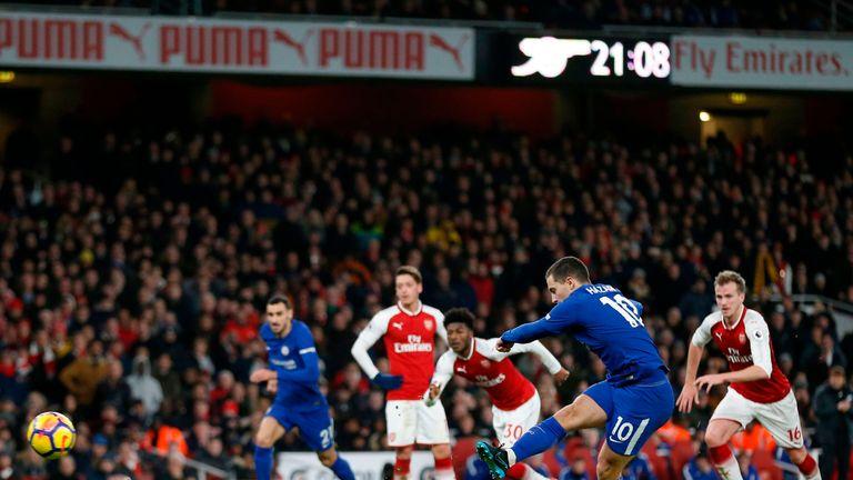 Eden Hazard scores Chelsea's equaliser from the penalty spot