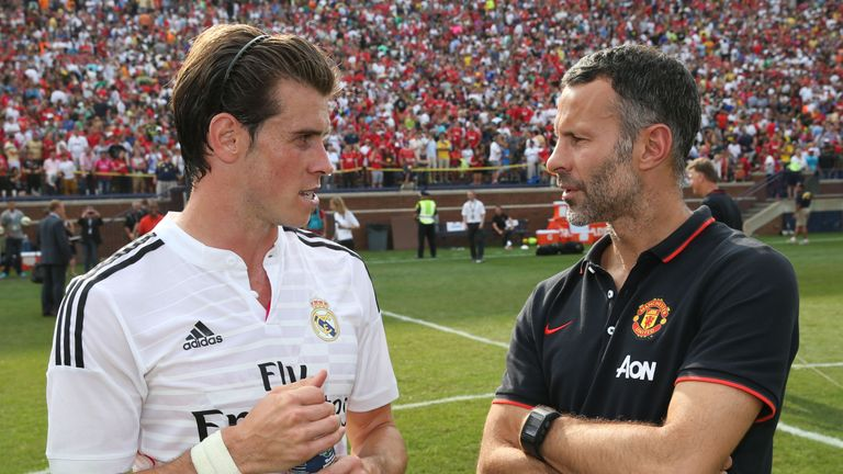 Gareth Bale and Ryan Giggs pictured at the International Champions Cup in 2014