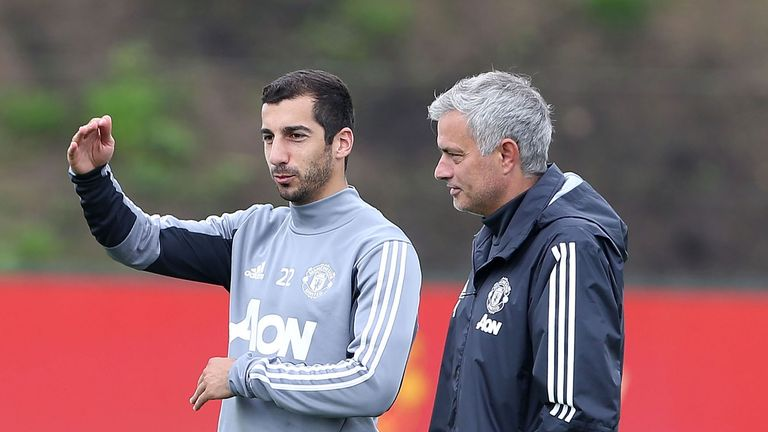 Jose Mourinho says Henrikh Mkhitaryan (left) is likely to play against Stoke on Monday Night Football