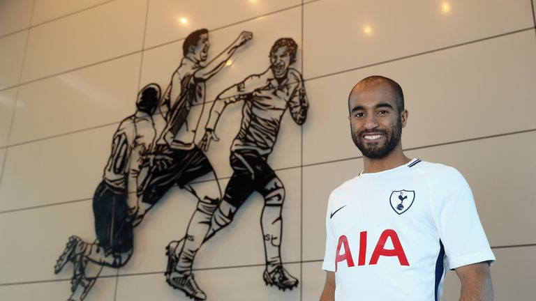 Tottenham Hotspur unveil new signing Lucas Moura on January 31, 2018