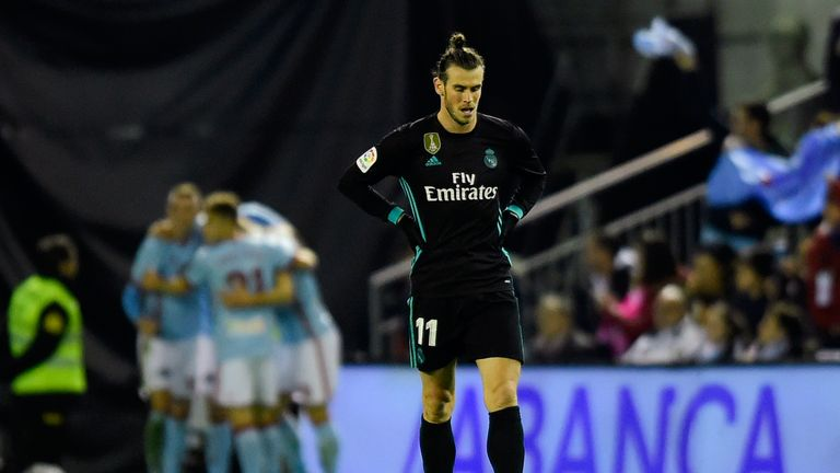 Gareth Bale scored twice but Real Madrid fell further behind Barcelona at the top of La Liga after a 2-2 draw with Celta Vigo