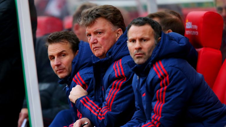 Giggs was Louis Van Gaal's assistant at United for two seasons