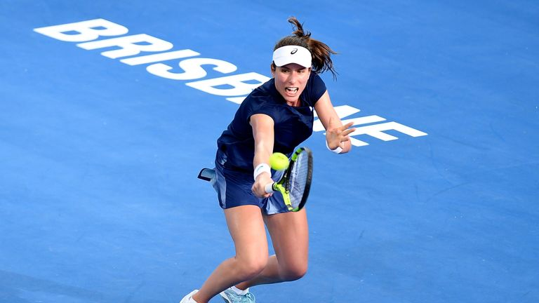 Johanna Konta overcame a tough start to beat Madison Keys in Brisbane